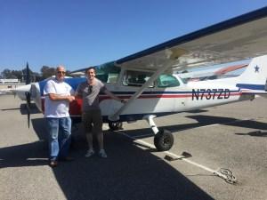 solo flight, flight training, Cessna