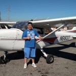 N61637, solo, flight training