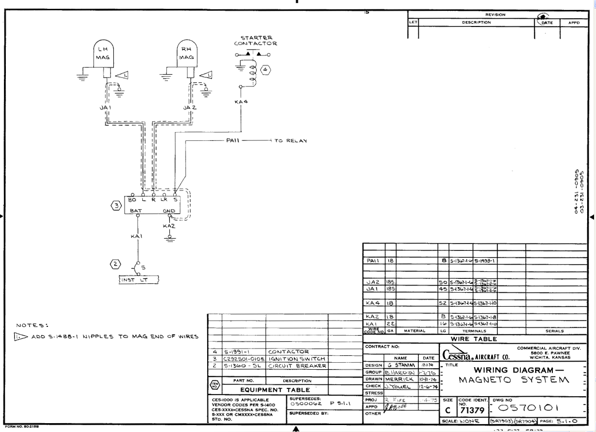 Wiring Diagram Manual Wdm : Cessna master switch wiring diagram