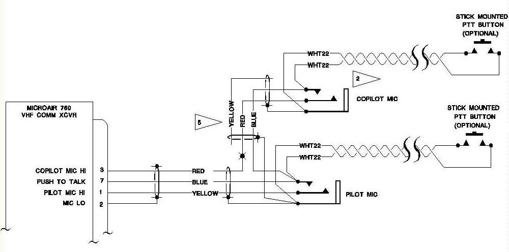 push to talk switch wiring diagram plug aeroelectric connection aircraft microphone jack click here for larger image