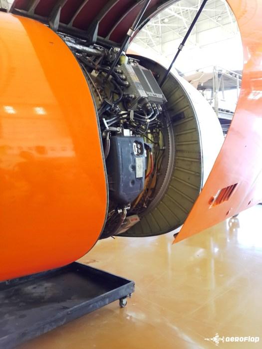 Carenagem de um motor CFM56-7.