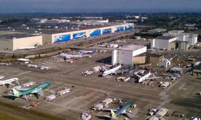 Fabrica da Boeing em Everett. Foto - Boeing