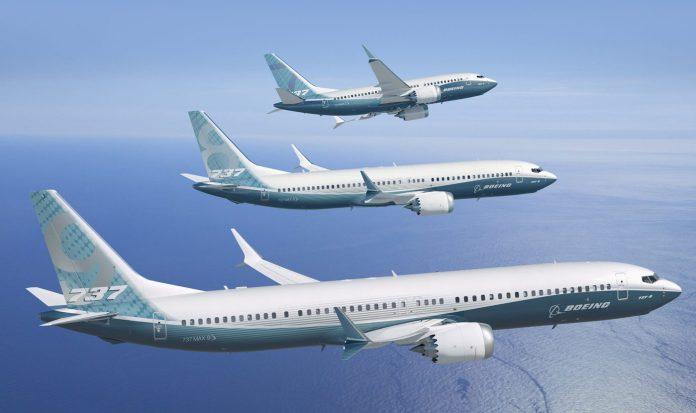 737 MAX 7,8,9 enfileirados em projeto - Foto Boeing Media