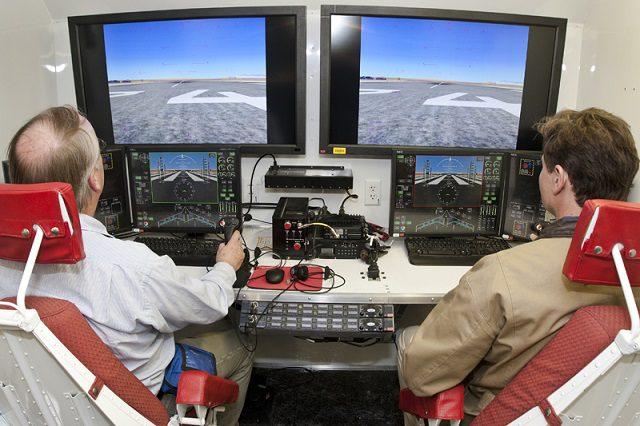 Controle da aeronave é feito em solo com transmissão de informações em tempo real.