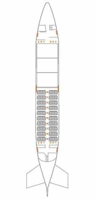 Na versão QC era permitido diversas configurações internas, nessa imagem temos 3 pallets de carga na parte frontal (com porta de carga) e 60 assentos.