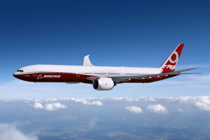 Entre as aeronaves de interesse do Irã está o novo 777-9X.