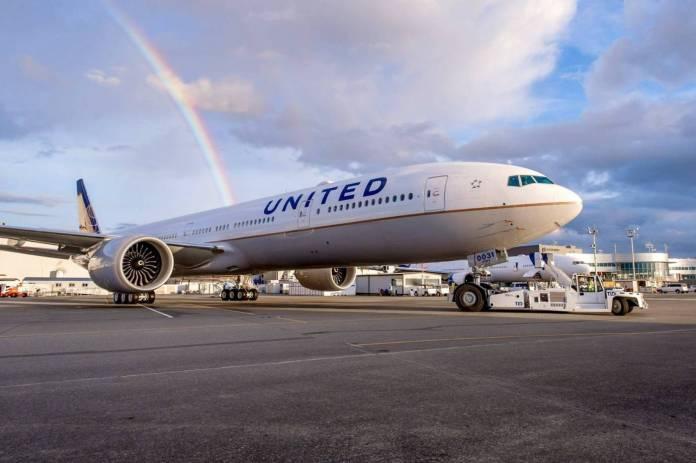Boeing 777-300ER é a nova aposta da United. Foto - United/Divulgação