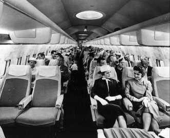 Interior do 707 da Pan Am