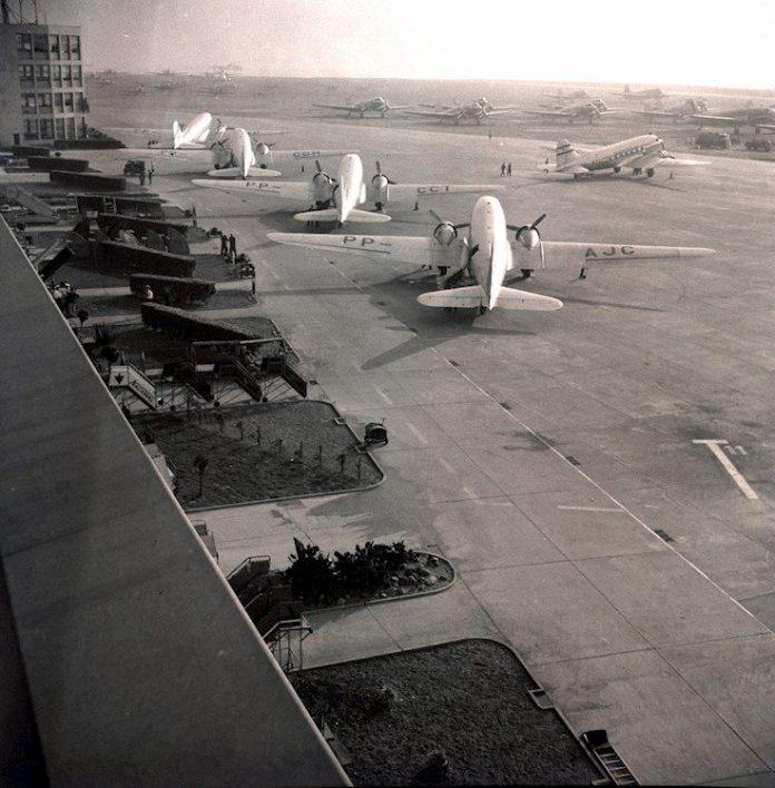 SDU em 1957. Foto - Infraero/Acervo