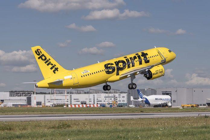 Avião Spirit Airlines