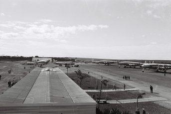 Aeroporto de Brasília em 1958. Foto - Arquivo Público do DF