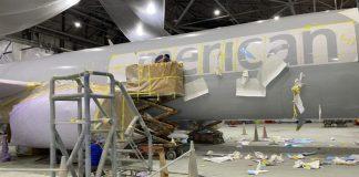 Pintura American Airlines Boeing 737-800 Meio ambiente