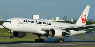 Japan Airlines Boeing 777 Pratt & Whitney