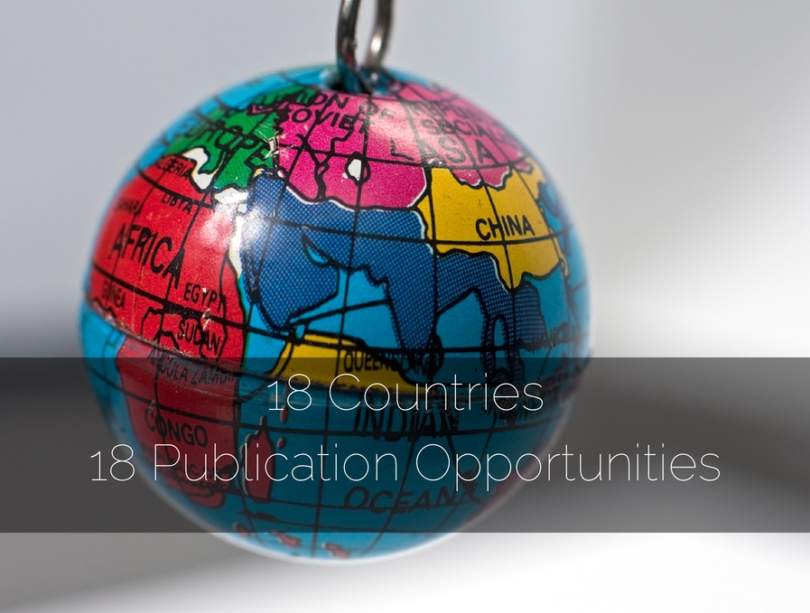 18 Countries 18 Publication Opportunities