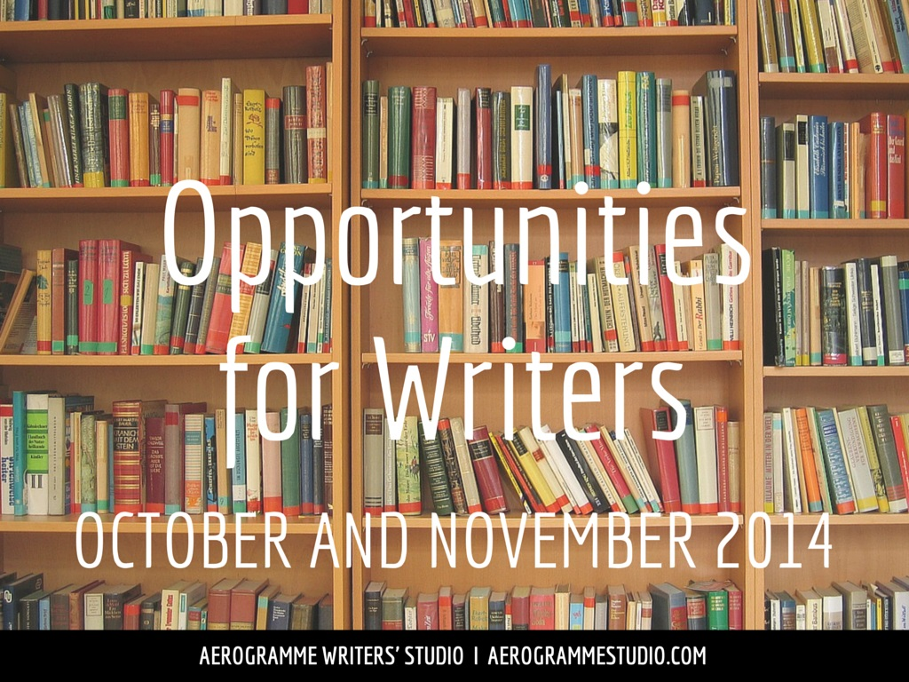 Opportunities for Writers October and November 2014