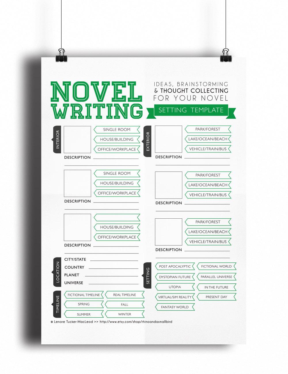 novel template
