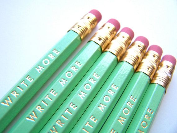 Christmas Gifts for Writers -Write More Pencils