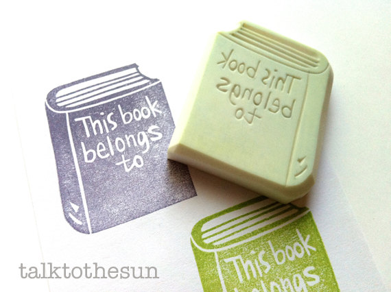 Personalised Bookplate Stamp