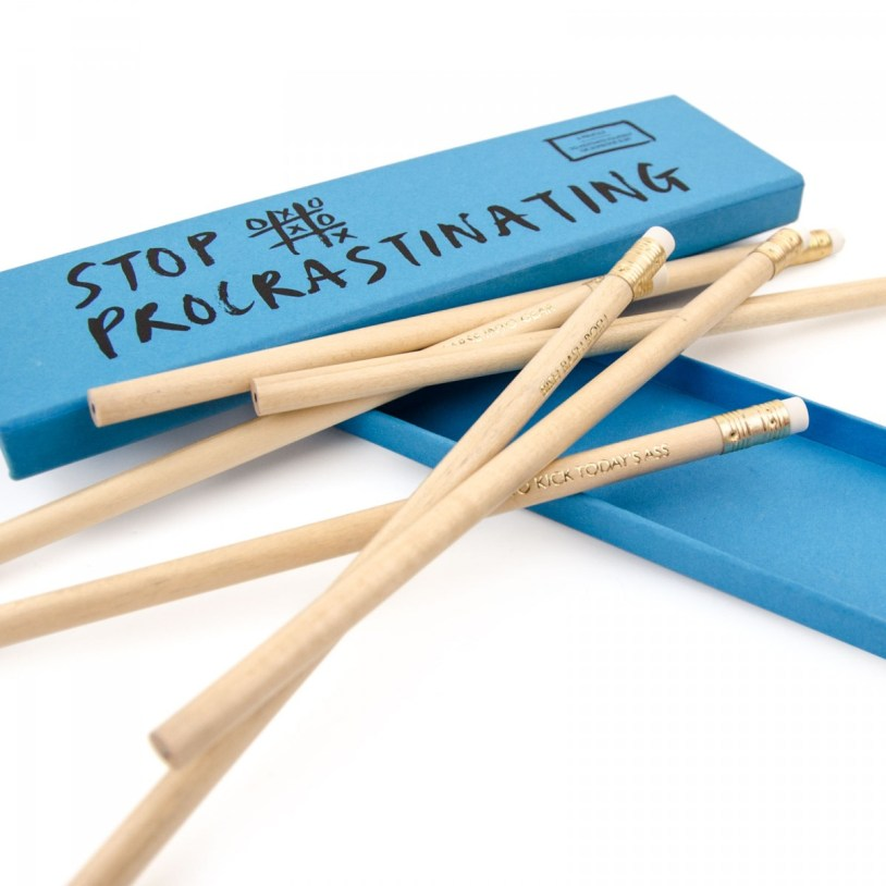 Stop Procrastinating Pencil Set