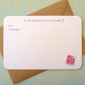 Text Message Notecards