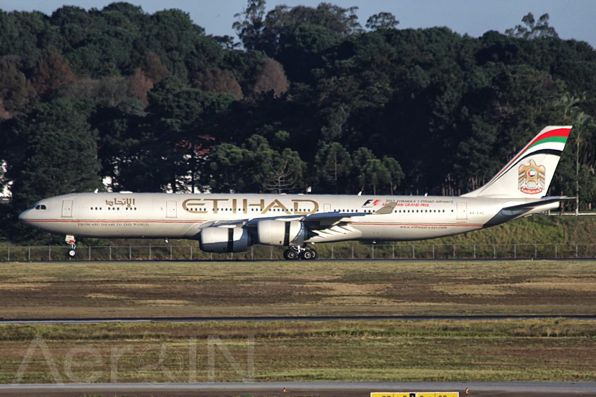Etihad encerra hoje voos para o Brasil.