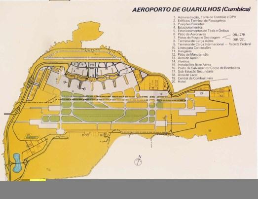 1980 - Planta do futuro aeroporto