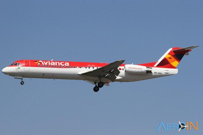 Avião Fokker 100 Avianca Brasil