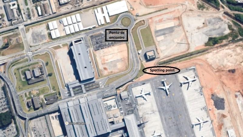 Spotting point A380