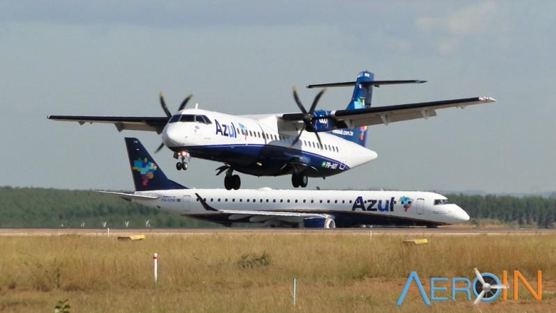 Avião Turboélice ATR 72 Azul