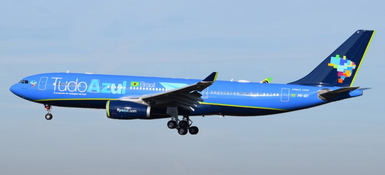 Avião Airbus A330 Azul TudoAzul