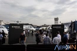 Espaço da Embraer era um dos mais visitados.