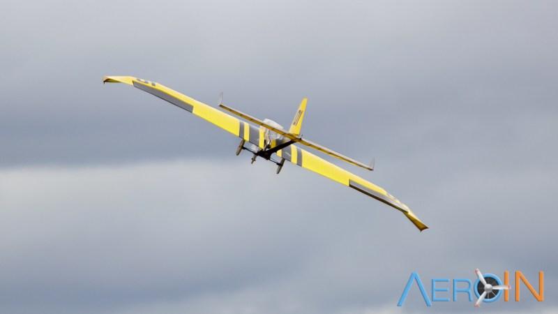 Aeronave da equipe EESC-USP Alpha, campeã da classe Regular.
