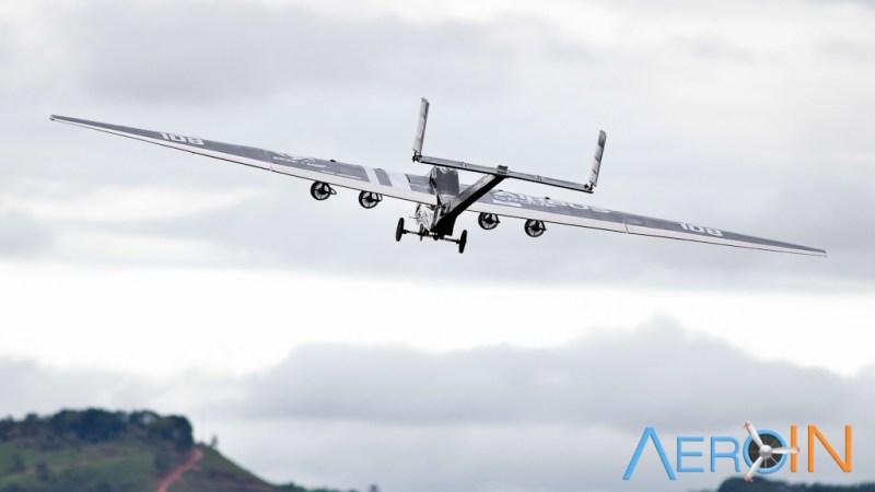 Aeronave da equipe EESC-USP Charlie, campeã da Classe Advanced.