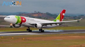 A330-200 da TAP chega ao BH Airport procedente de Lisboa.