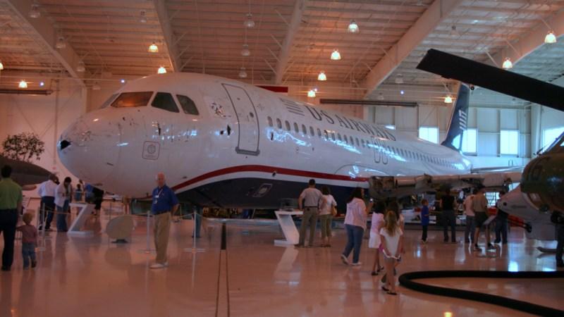 A320 US Airways Rio Hudson Museu Carolinas