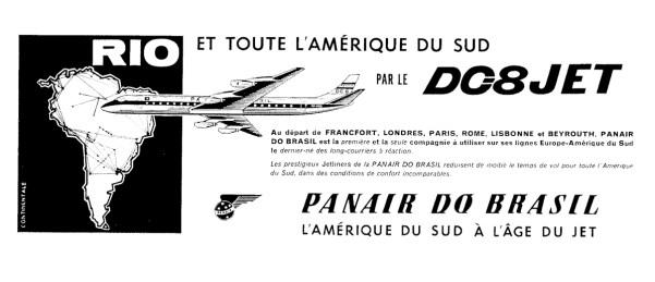 Anúncio publicado na revista européia Interavia, em dezembro de 1961 (coleção Paulo Laux).