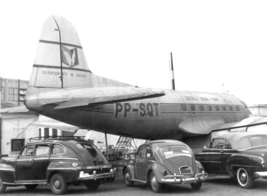 Saab 90A2 PP-SQT Scandia recolhido para o Depto. de Ensino Escola Senai-Vasp em novembro 1966. Cinquenta anos atrás! (Paulo Laux).