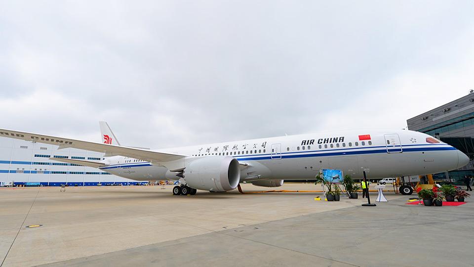 Air China introduz Boeing 787-9 para São Paulo.