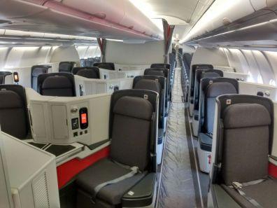 Classe Executiva do A330 da Avianca Brasil. Foto de autor desconhecido.