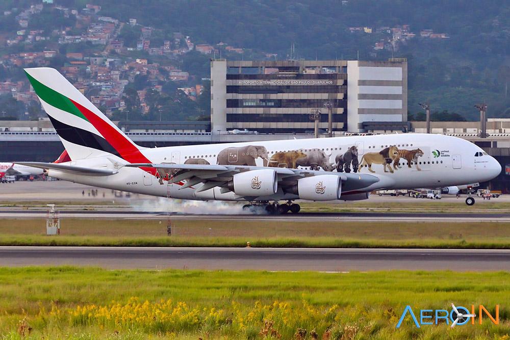 GRU Airport poderá receber dois A380 ao mesmo tempo nesta quinta (27).