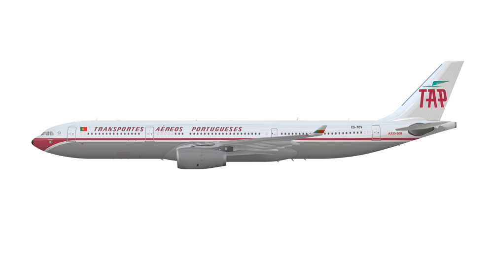 TAP Air Portugal planeja pinturas especiais em seus próximos A330.