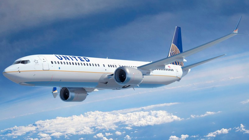 Avião Boeing 737 MAX 9 United Airlines