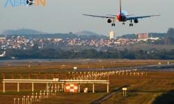 Avião Pouso Rota Aeroporto