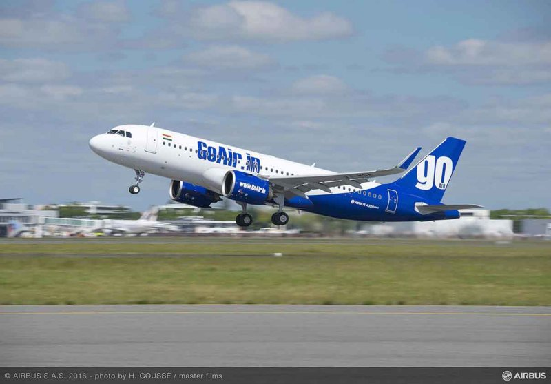 Avião Airbus A320neo GoAir