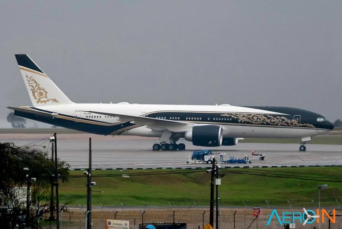 avião Boeing 777-200 Guiné Equatorial Viracopos