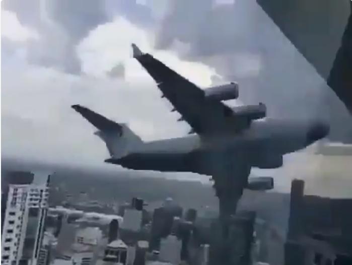 Avião Boeing C-17 Globemaster Riverfire Brisbane 2018