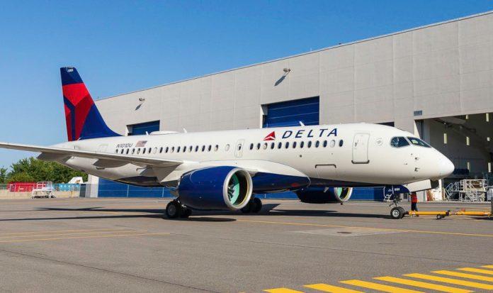 Avião Airbus A220 Delta aeronaves