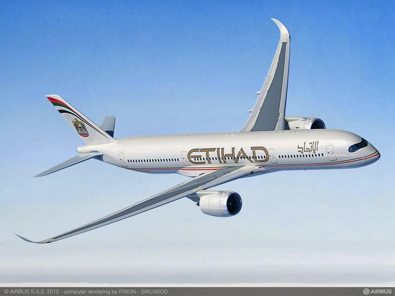Avião Airbus A350 Etihad