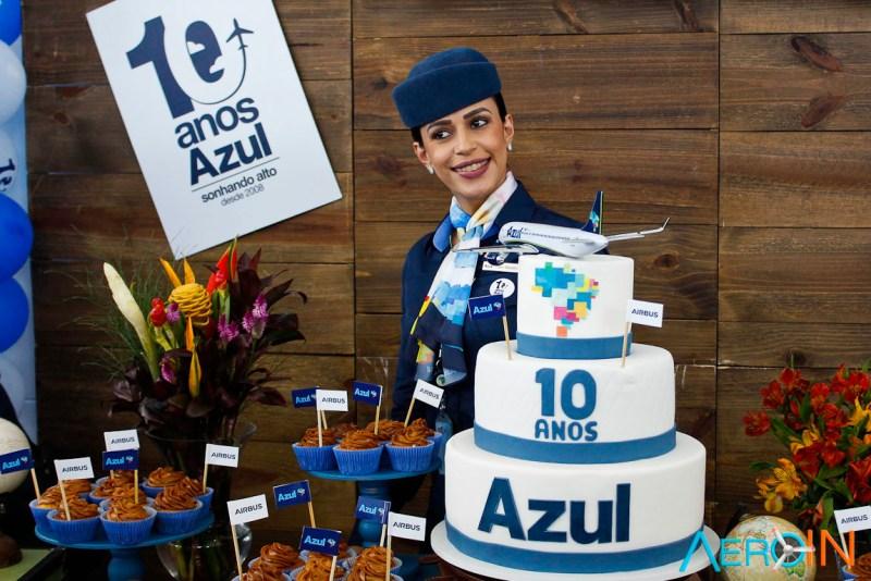 Comissária Azul Linhas Aéreas 10 Anos