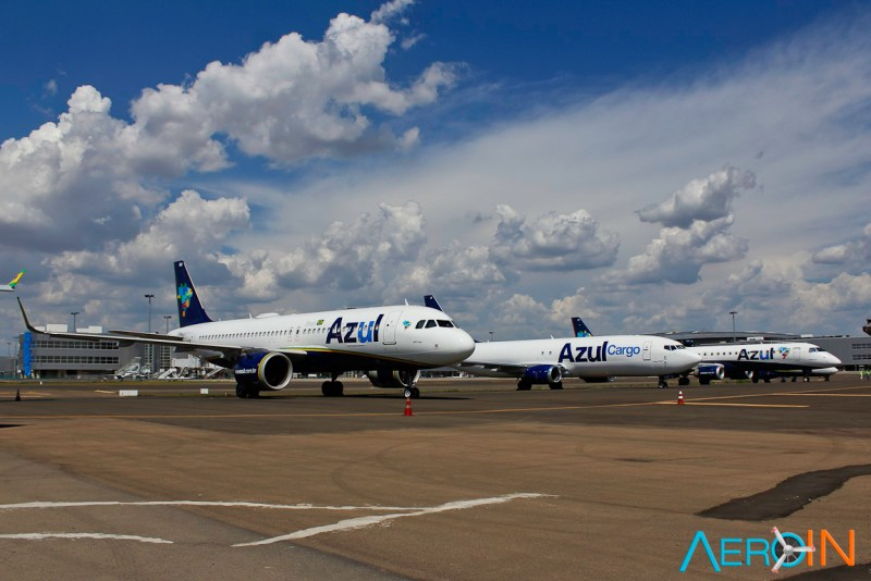 Frota Azul Airbus A320neo Boeing 737-400F Embraer E195